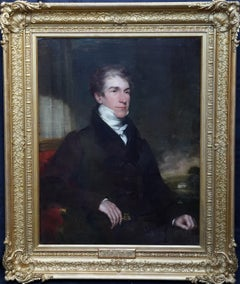 Portrait of William Henry Cooper High Sheriff Surrey 1836 - British oil painting