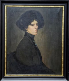 Portrait of Miss Stuchbury - Scottish Edwardian 1911 art portrait oil painting