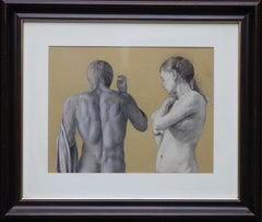 Standing Nude Figures - British C1900 Slade School Newlyn Pre-Raphaelite art