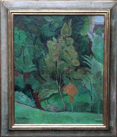 Trees - Post Impressionist 30's landscape oil painting British Modernist art