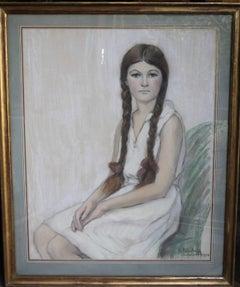 Irene Chisan Denbigh - Russian Art Deco female portrait drawing female artist