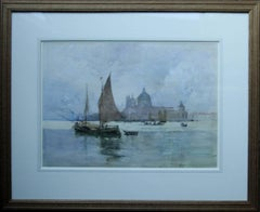 Venice - Scottish 19thC art Glasgow artist lagoon seascape Dodges Palace Italy