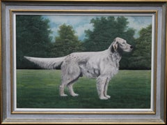 Portrait of an English Setter - Glaisnock Jim - 20s oil gouache painting dog art