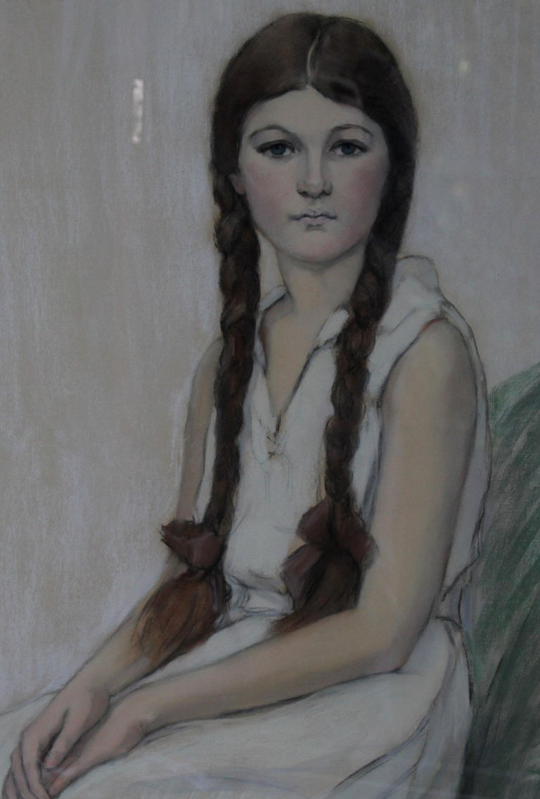 Irene Chisan Denbigh - Russian Art Deco female portrait drawing female artist 3