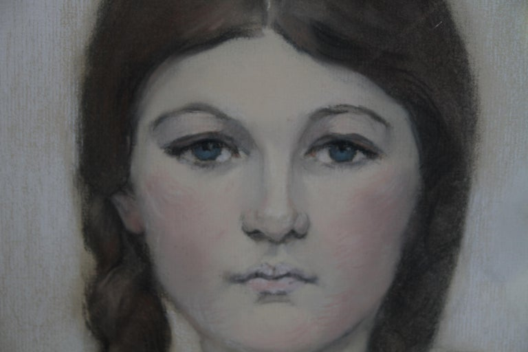 Irene Chisan Denbigh - Russian Art Deco female portrait drawing female artist 4
