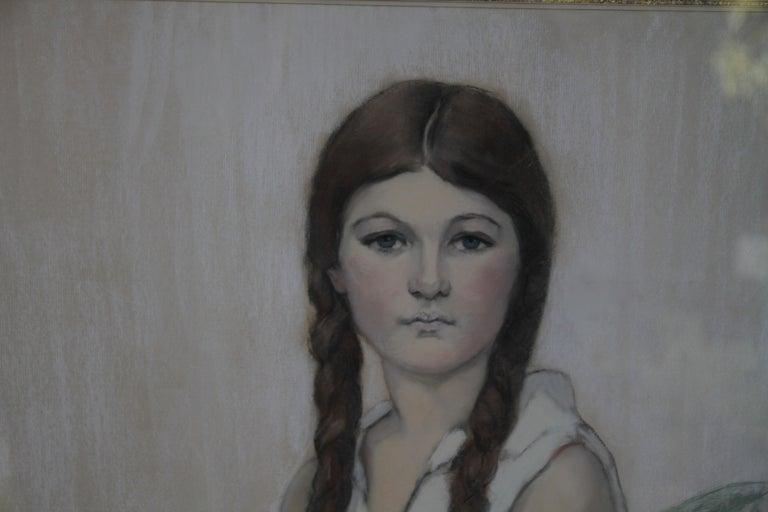 Irene Chisan Denbigh - Russian Art Deco female portrait drawing female artist 5