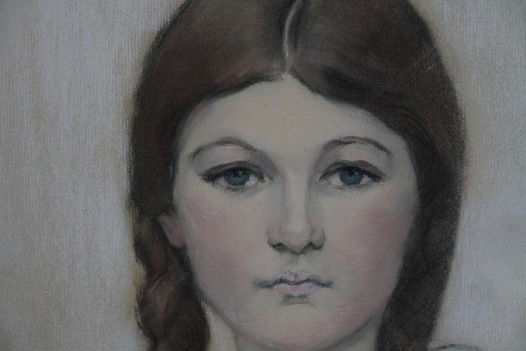Irene Chisan Denbigh - Russian Art Deco female portrait drawing female artist 6