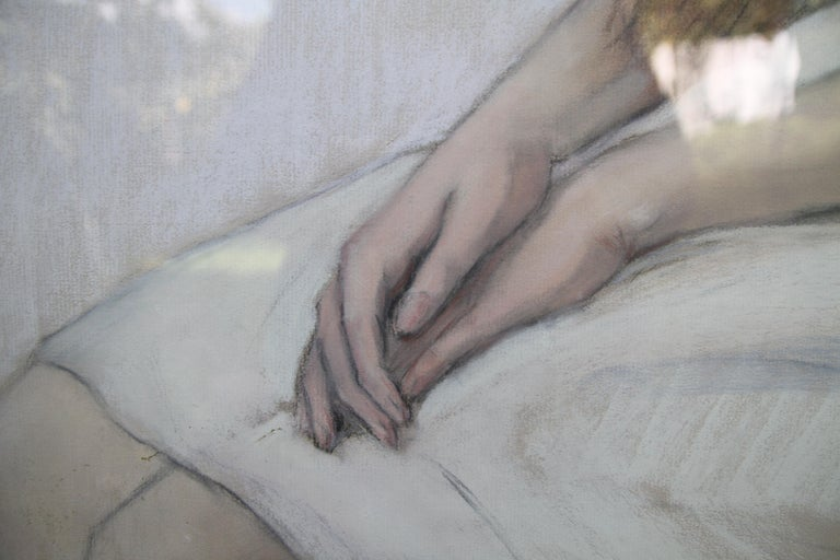 Irene Chisan Denbigh - Russian Art Deco female portrait drawing female artist 7
