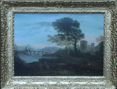 Classical Landscape - Flemish art 18th century landscape oil painting