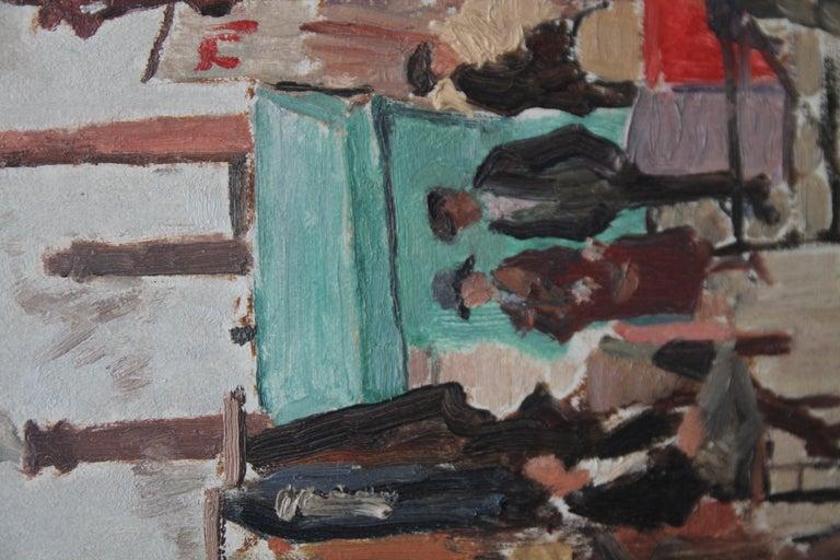 Caledonian Market Islington London - British Impressionist art 30's oil painting 3