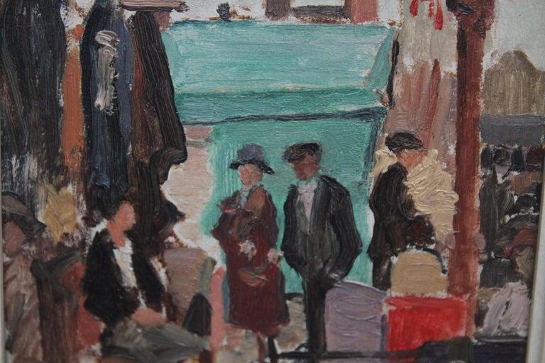Caledonian Market Islington London - British Impressionist art 30's oil painting 4