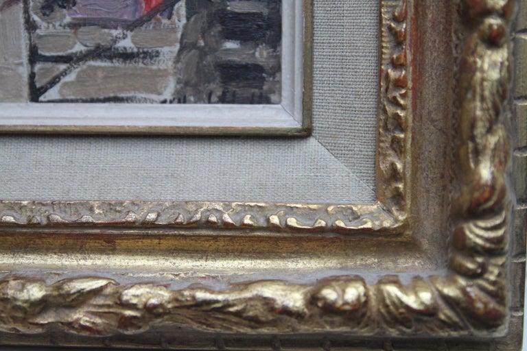 Caledonian Market Islington London - British Impressionist art 30's oil painting 5
