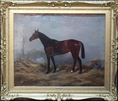Honeys - Race Horse - British 20th century art horse portrait oil painting