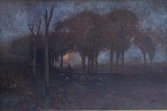 Australian Sunset - Impressionist Victorian landscape Australian artist nocturne