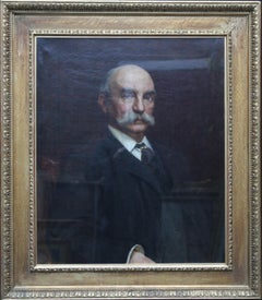 Portrait of John Beck - British Victorian art oil painting male portrait