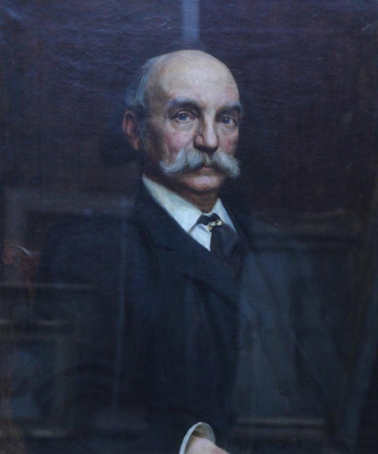 Portrait of John Beck - British Victorian art oil painting male portrait For Sale 1