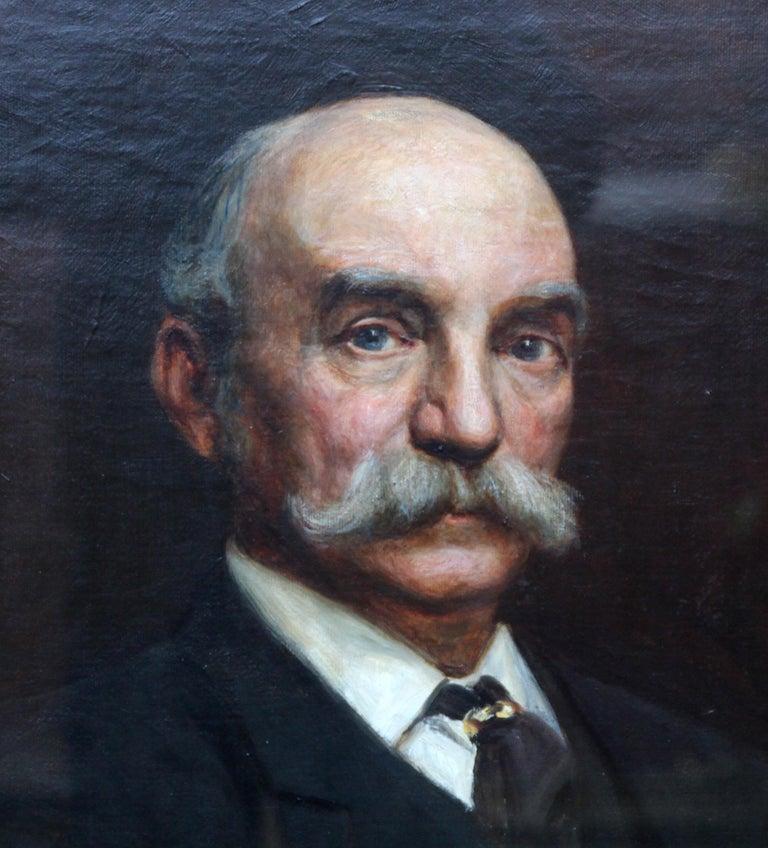 Portrait of John Beck - British Victorian art oil painting male portrait For Sale 3