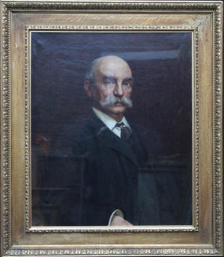 Portrait of John Beck - British Victorian art oil painting male portrait For Sale 7