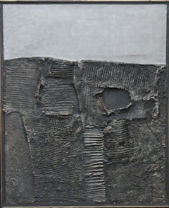 Shifting Strata Paris 1963 - Greek art Abstract Expressionist painting Fontana