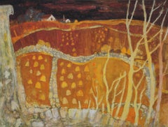 Expressionist Landscape Drawings and Watercolors