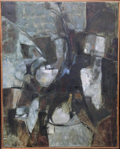 Mistrel - British Abstract Expressionist art 1960's exhibited oil painting