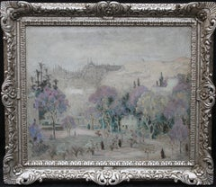 View of Istanbul Turkey, Irish Art, Post Impressionist, Landscape Oil Painting