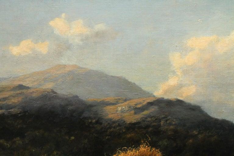 Harvest Field Brig O Turk Stirling Scotland -  Scottish art 1880 oil painting 6