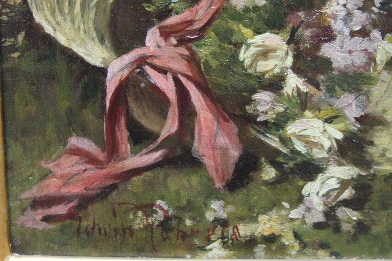 A Summer Beauty - British Victorian Genre art female portrait oil painting For Sale 6