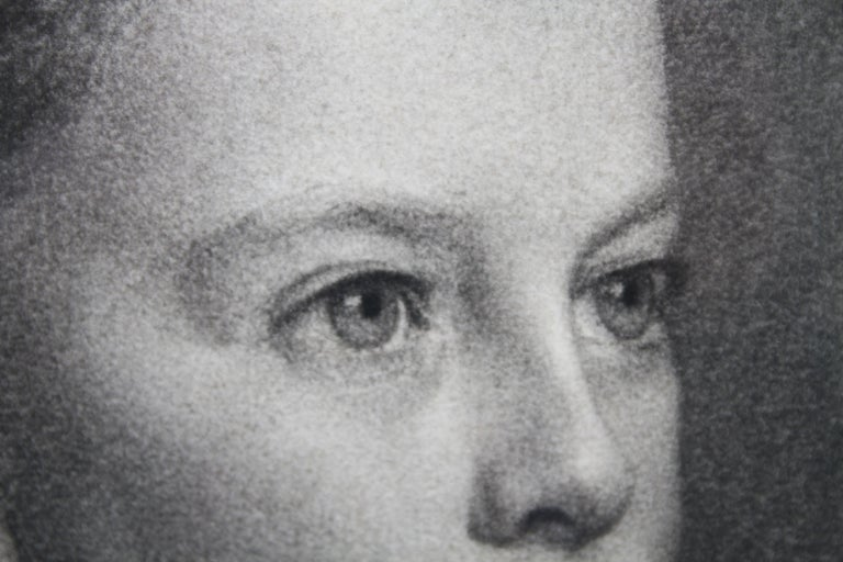 Portrait of Young Girl -Victorian British PreRaphaelite portrait pencil drawing  For Sale 4
