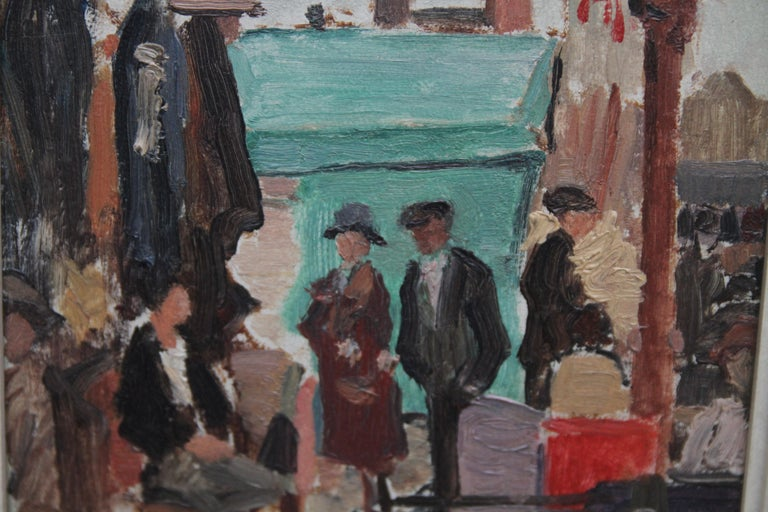 Caledonian Market Islington London - British Impressionist art 30's oil painting 4