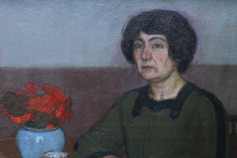 Portrait of Two Women - British 1913 Post Impressionist art exhib. oil painting For Sale 1