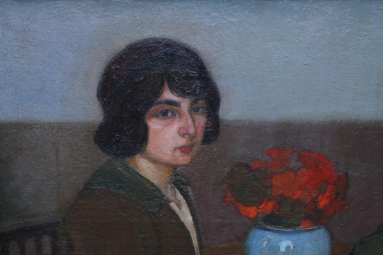 Portrait of Two Women - British 1913 Post Impressionist art exhib. oil painting For Sale 2