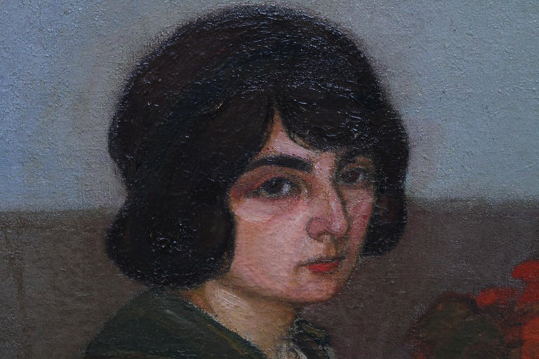 Portrait of Two Women - British 1913 Post Impressionist art exhib. oil painting For Sale 5