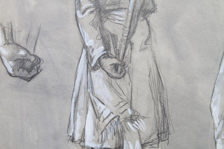 Portrait of a Sikh Soldier - Australian art Anzac WWI drawing Gallipoli flag 3