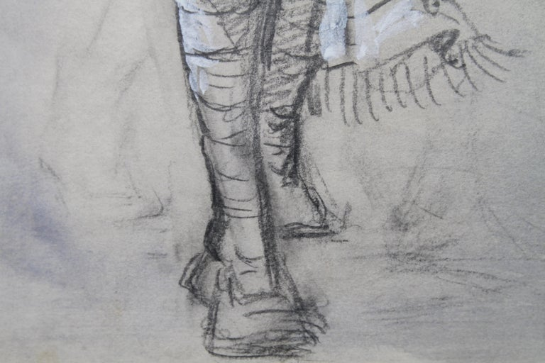 Portrait of a Sikh Soldier - Australian art Anzac WWI drawing Gallipoli flag 4