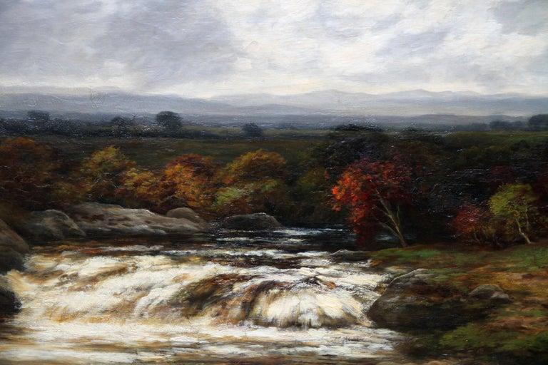 Upper Reaches of Dulnain River - Scottish Victorian art landscape oil painting For Sale 1