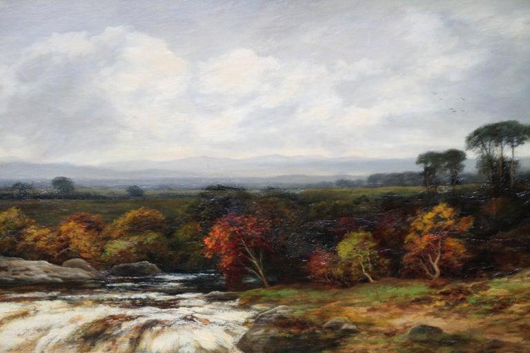 Upper Reaches of Dulnain River - Scottish Victorian art landscape oil painting For Sale 2