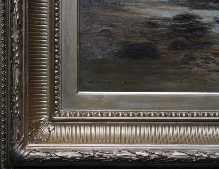 Upper Reaches of Dulnain River - Scottish Victorian art landscape oil painting For Sale 3