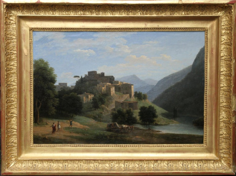 Jean Victor Bertin  Landscape Painting - Italian Mountainous River Landscape  - French 19th Century Neo Classical art