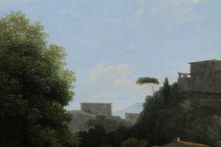 Italian Mountainous River Landscape  - French 19th Century Neo Classical art  For Sale 4