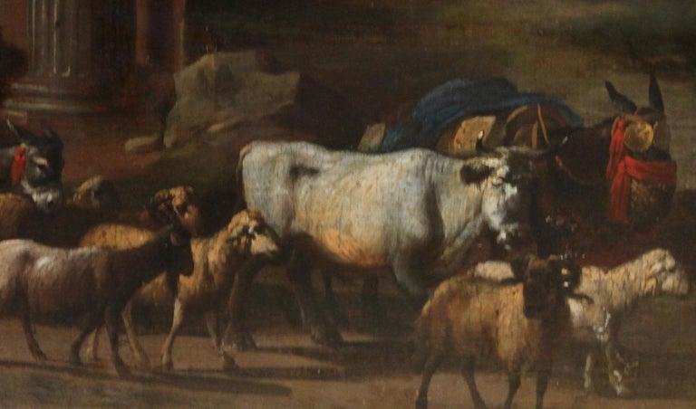 Capriccio Landscape - British 18th century art ruins landscape oil painting  For Sale 2
