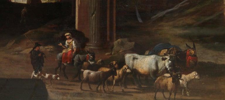 Capriccio Landscape - British 18th century art ruins landscape oil painting  For Sale 3