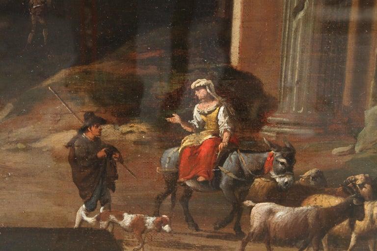Capriccio Landscape - British 18th century art ruins landscape oil painting  For Sale 4