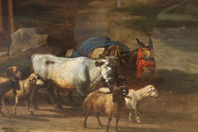 Capriccio Landscape - British 18th century art ruins landscape oil painting  For Sale 5