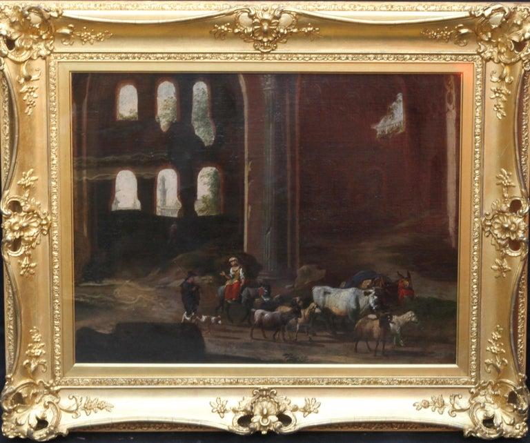 Capriccio Landscape - British 18th century art ruins landscape oil painting  For Sale 10