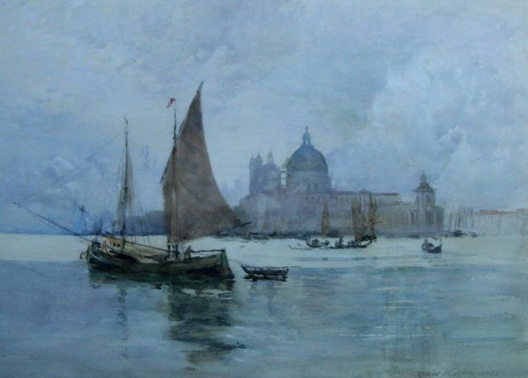 Venice - Scottish 19thC art Glasgow artist lagoon seascape Dodges Palace Italy - Art by Robert Weir Allan