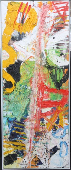 Tribal No 3 - Scottish contemporary art abstract oil painting exhibited work