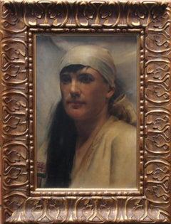 The Arab Girl - Scottish Glasgow Boy art 19thC Orientalist portrail oil painting