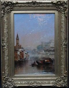 Verona - Italian Riviera - British Victorian marine seascape oil painting Italy
