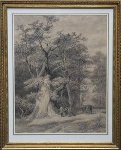 Hasbrucken Wald Altenberg Germany - The Forest - Dutch 19thC wooded landscape